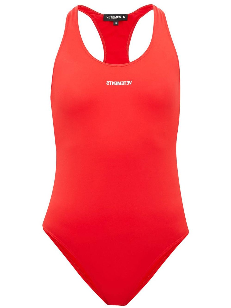 Vetements Suits baywatch swimsuit red