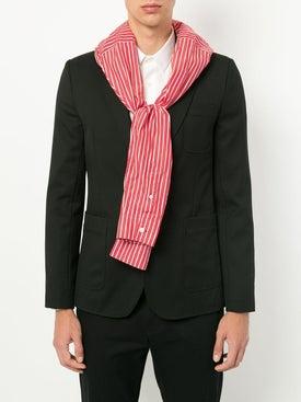 Balenciaga - Striped Scarf Red - Scarves