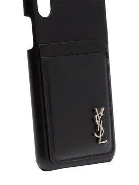 Saint Laurent - Iphone 10 Leather Case Black - Tech