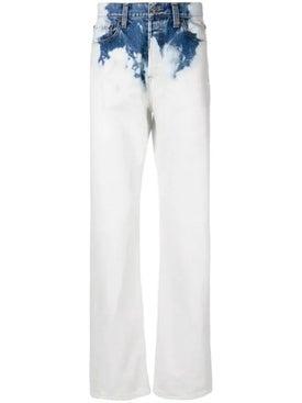 Balenciaga - Bleached Straight-leg Jeans Multicolor - Denim
