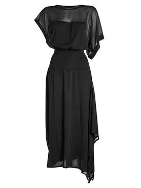 Paco Rabanne - Asymmetric Dress With Virgin Wool - Maxi