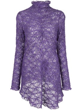Sies Marjan - Willie Lace Ruched Top Purple - Women