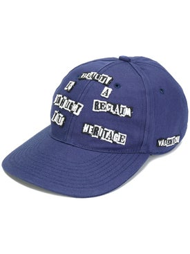 "Valentino Garavani - ""beauty Is A Birthright Reclaim Your Heritage"" Cap Blue - Men"