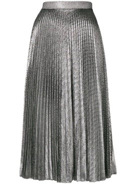 Christopher Kane - Pleated Lamé Mesh Skirt - Women