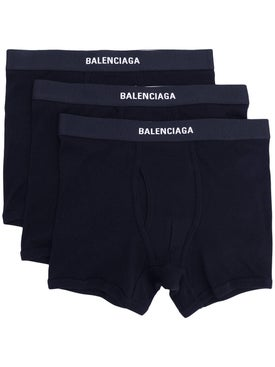 Balenciaga - Set Of Three Logo Boxers Tba - Men