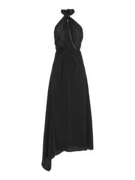 Black Halter Neck Midi Dress