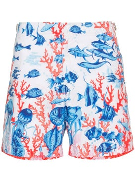 Orlebar Brown - Bulldog Fish Print Swim Shorts Blue - Men