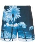 Orlebar Brown - Bulldog Blue Palms Swim Shorts Blue Palms - Men