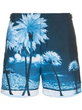 Orlebar Brown - Bulldog Blue Palms Swim Shorts Blue Palms - Men