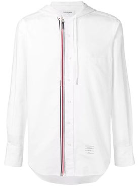 Thom Browne - Hooded Zip-front Oxford Shirt - Men