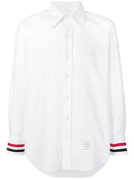 Thom Browne - Grosgrain Cuff Oxford Shirt - Shirts