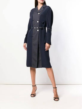 Thom Browne - Inside-out Coat Lining Dress - Women