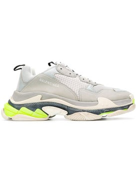 Balenciaga - Grey Triple S Lace-up Sneakers Grey - Men