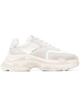 Balenciaga - White Fabric Triple S Sneakers White - Men