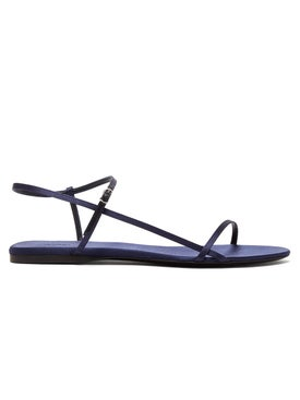 The Row - Bare Flat Sandal Midnight Blue - Women