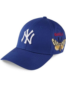 Gucci - Baseball Cap With Ny Yankees™ Patch Blue - Men