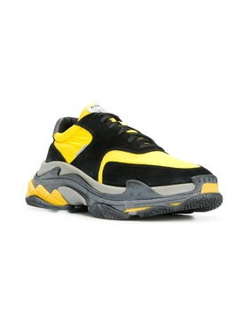 Balenciaga - Black And Yellow Triple S Sneakers Multicolor - Men