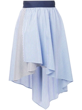 Sonia Rykiel - Striped Asymmetric Skirt - Women