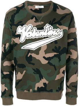Valentino - Logo Patch Camouflage Sweatshirt - Men