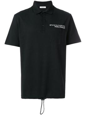 drawstring hem polo shirt