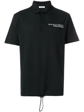 Valentino - Drawstring Hem Polo Shirt - Men