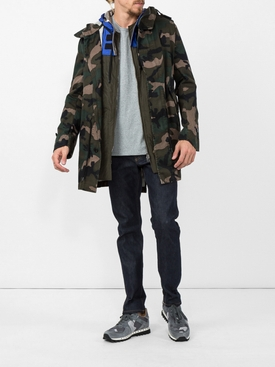 camouflage parka