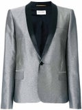Saint Laurent - Metallic Fitted Blazer Silver - Women