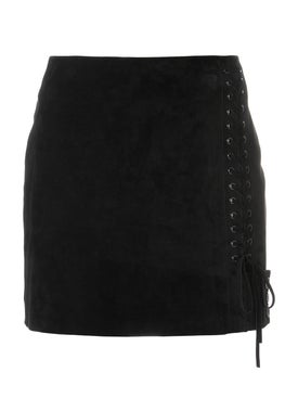 Saint Laurent - Side Lace-fastened Fitted Skirt - Women