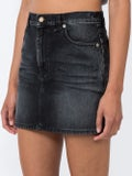 Saint Laurent - Faded Denim Mini Skirt - Women