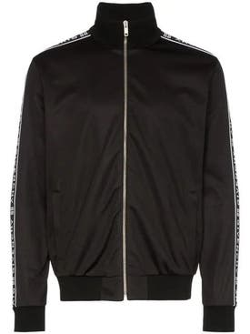 Givenchy - Ticker Sleeve Logo Zip Up Track Jacket Black - Men