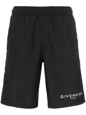 Givenchy - Long Logo Swim Shorts - Men