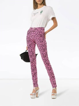 Gucci - Leopard Print High-waisted Skinny Jeans - Women