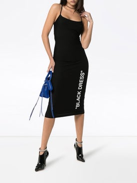 "Off-white - Bodycon Midi ""dress"" Black - Women"