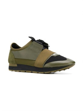 Balenciaga - Olive Green Road Runner Sneakers Green - Men