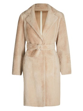Yves Salomon - Faux Fur Overcoat Neutral - Women