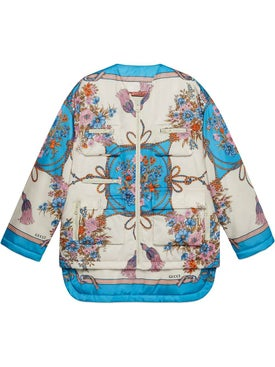 Gucci - Padded Nylon Jacket With Flowers And Tassels - Women