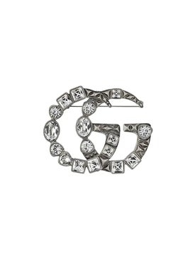 Gucci - Crystal Double G Brooch - Women