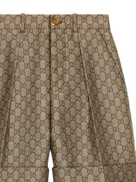 Gucci - Gg Wool Canvas Shorts - Women