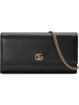 Gucci - Gg Marmont Leather Chain Bag Black - Women