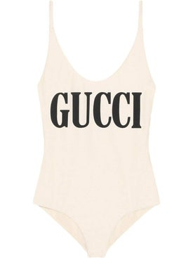 Gucci - Sparkling Swimsuit With Gucci Print Ivory - Women