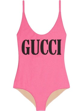 Gucci - Sparkling Swimsuit With Gucci Print Pink - Women