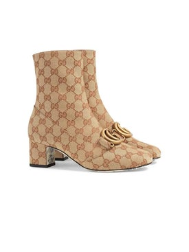 Gucci - Gg Ankle Boot With Double G - Women