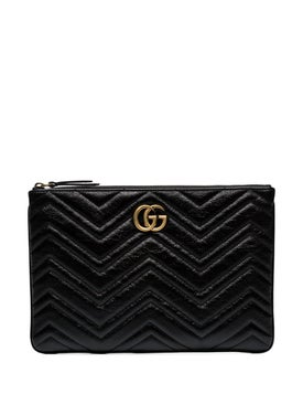 Gucci - Black Quilted Leather Clutch Bag - Women