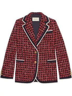 Gucci - Geometric Tweed Jacket - Women