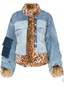 Natasha Zinko - Faux Fur Patchwork Denim Jacket - Jackets