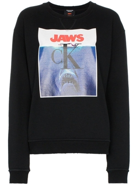 jaws logo cotton sweatshirt