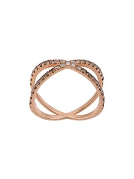 Eva Fehren - Rose Gold The Fine Shorty Diamond Ring - Women