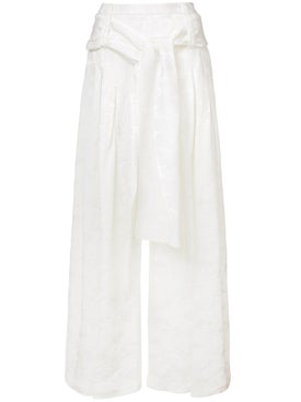 Rosie Assoulin - Pleated Wide Leg Trousers - Women