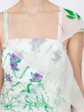 Rosie Assoulin - Floral Layer Slip Dress White - Women