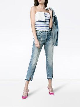 Natasha Zinko - Strapless Stripe Zip Top - Women